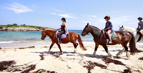 Horse riding on Pelistry beach