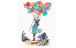 An illustration from Roald Dahl's 'The Twits'. Image courtesy of House of Illustration. Illustration © Quentin Blake