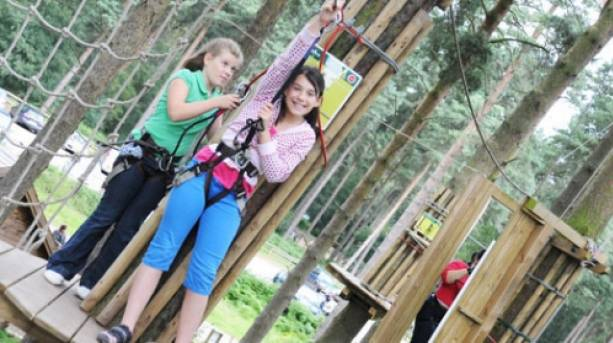 Enjoy the classic Go Ape experience high up in the tree tops
