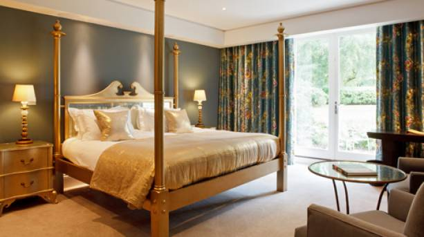 Inside one of the bedrooms at Rudding Park in Harrogate