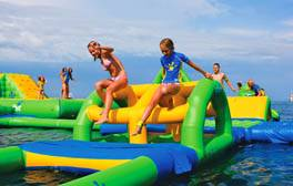 Go wild at the south coast's only inflatable water park