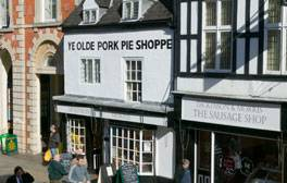 Stock up on meaty delights at Ye Olde Pork Pie Shoppe